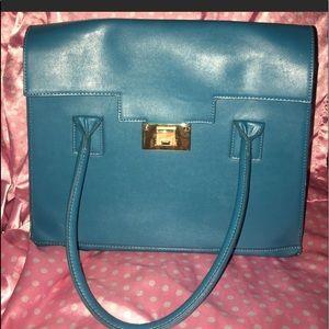 Just fab handbag with crossbody strap